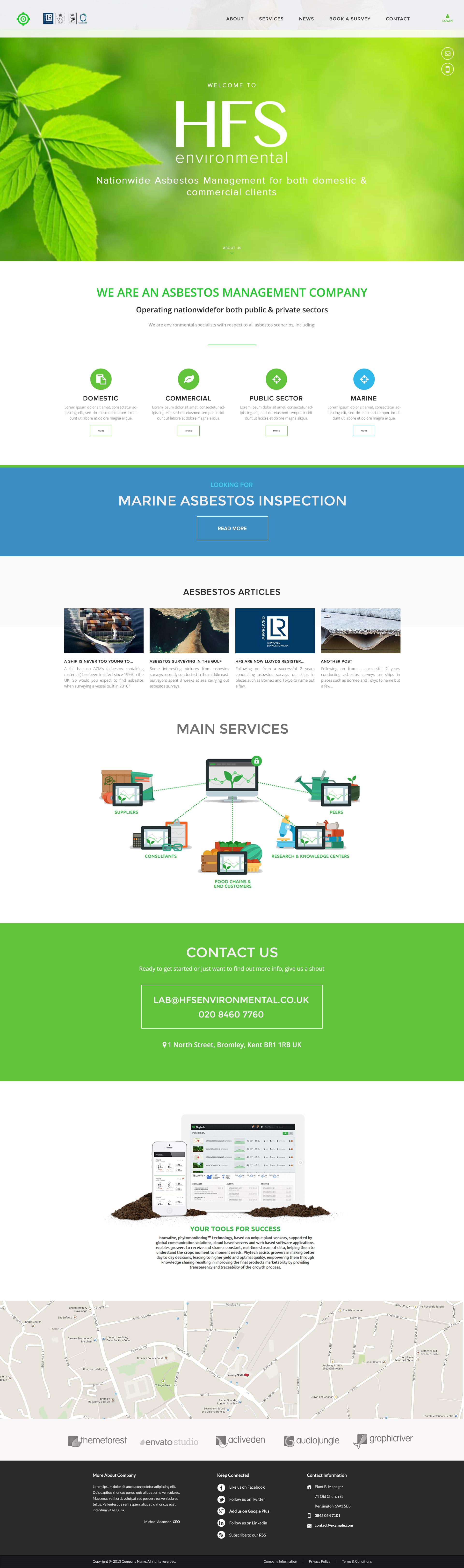 Asbestos Responsive Website Design
