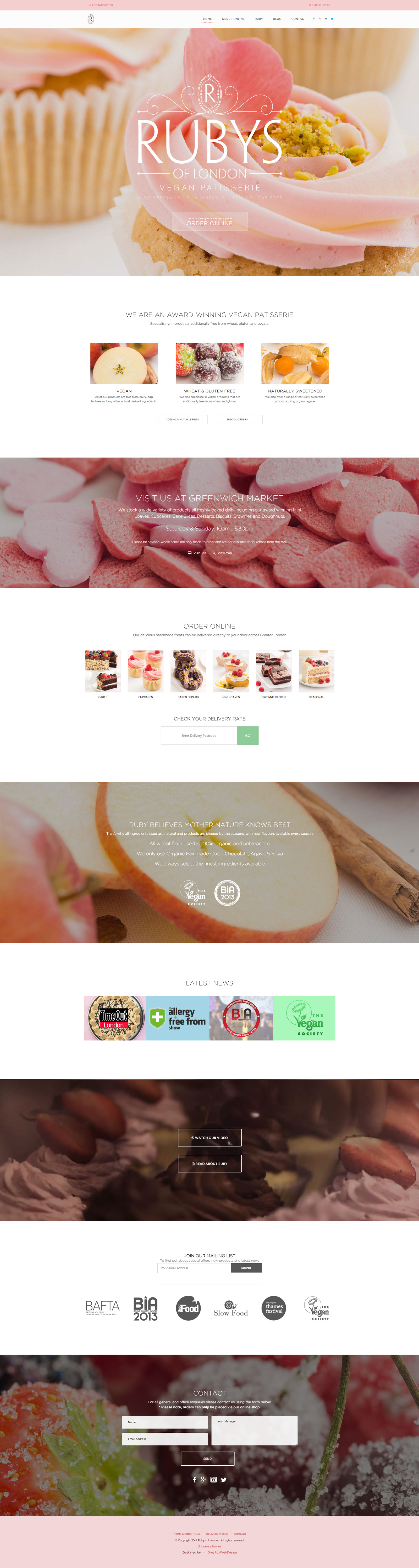 Food E-commerce Responsive Website