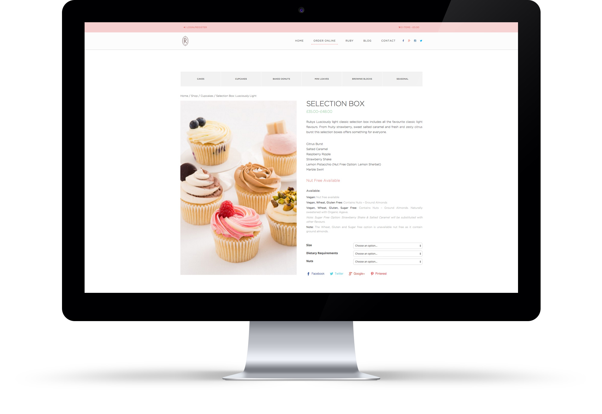 Food E-commerce Website Design