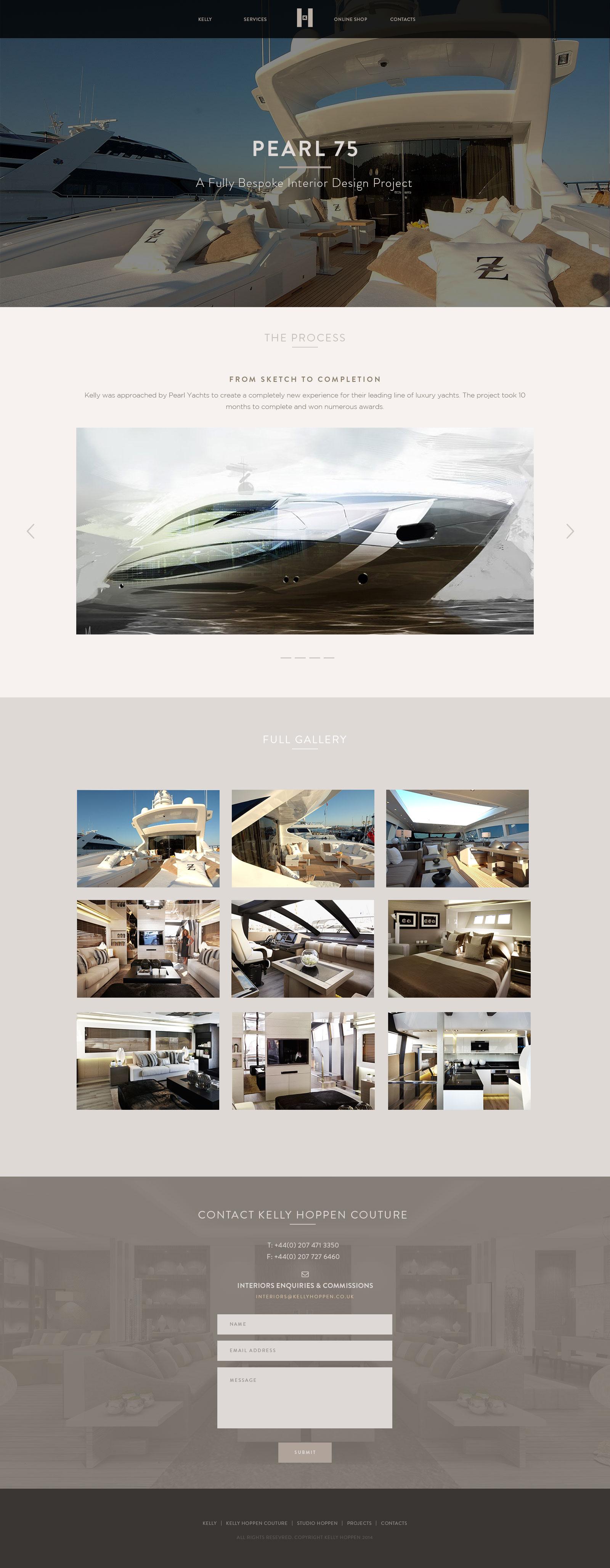 Interior Design One Page Website