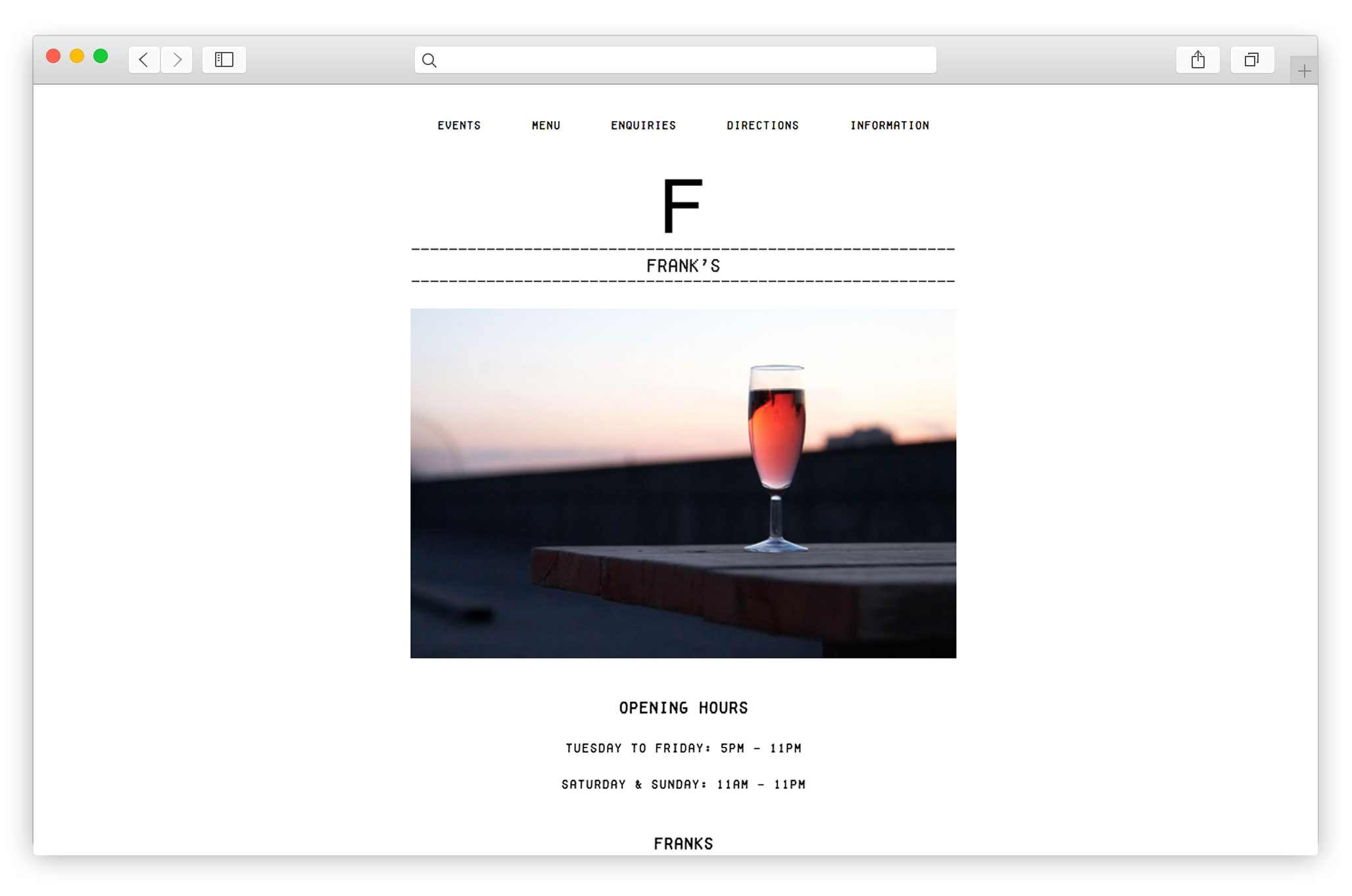 Modern Bar Website Design Company