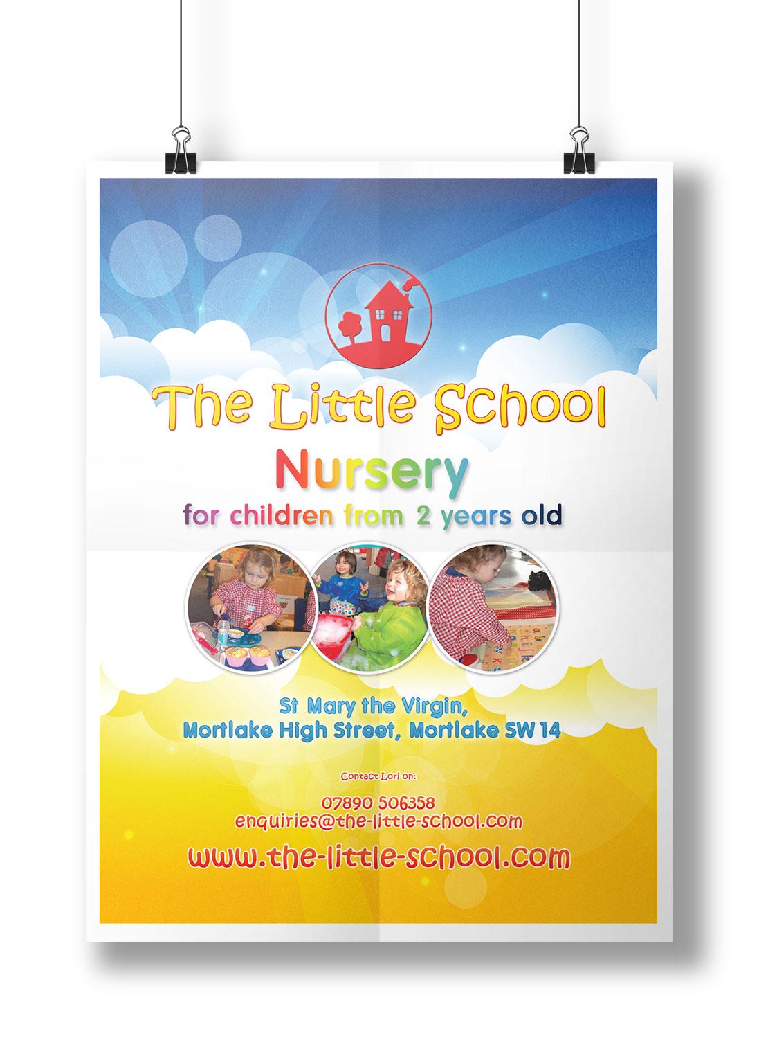 Poster design for school - Nursery School Poster Design