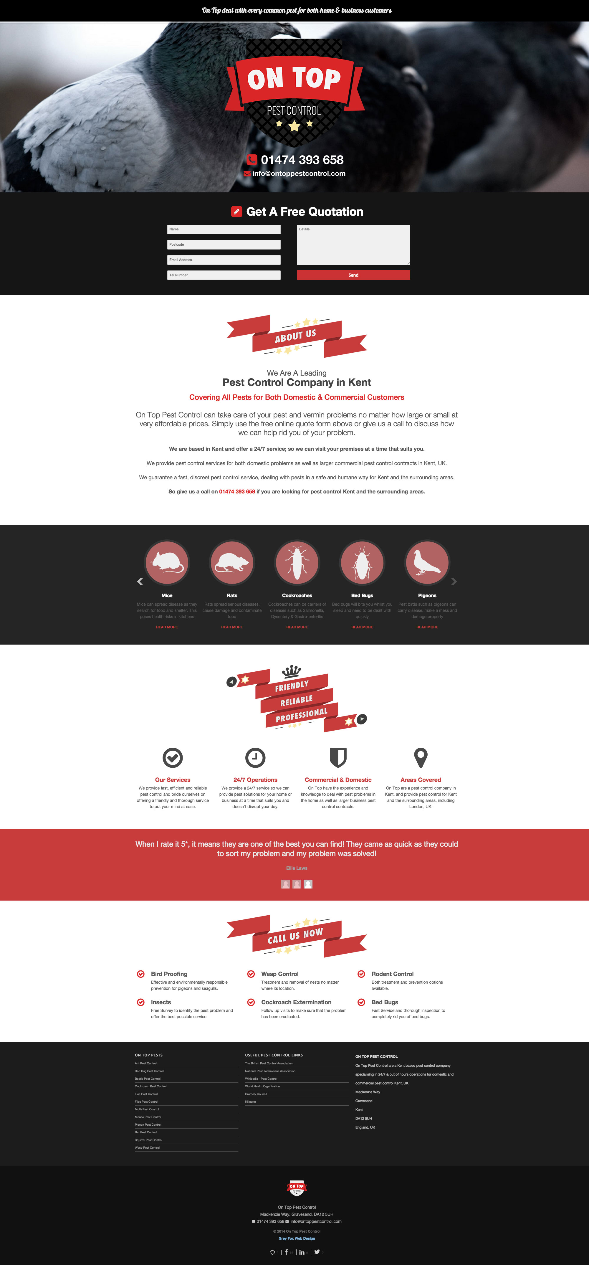 Pest Control Website Design Company